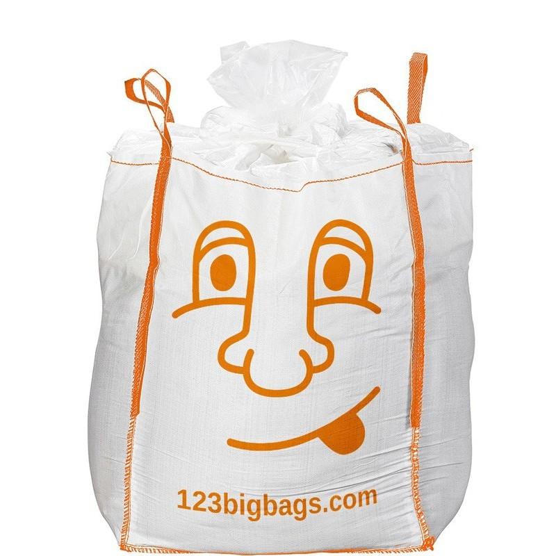 Big bag bedruckt mit Füllschürze