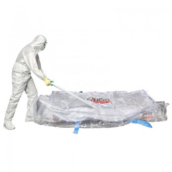 Asbestos sheet bag with liner