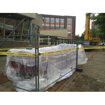 Asbest Depot Container Bag afgesloten