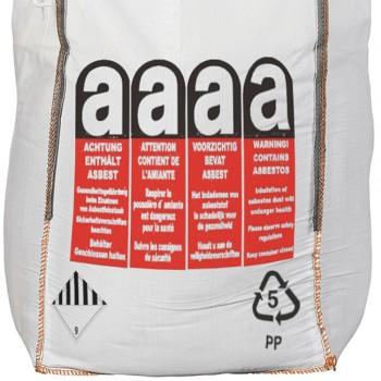 Asbestos waste bags