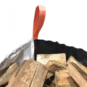 Holzsack mit Netz