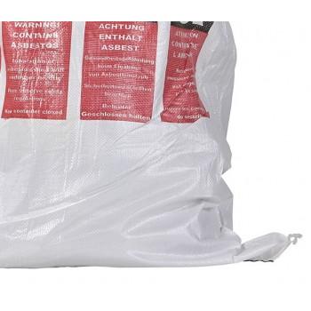 Asbest Flachsack mit Warnhinweisen