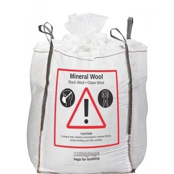 Mineralwolle Sack mit Füllschürze