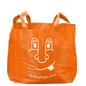 bedruckter orangener Big Bag 0,5 Kubik