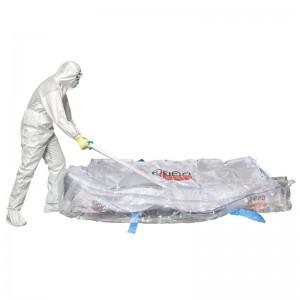 Asbestos sheet bag with liner